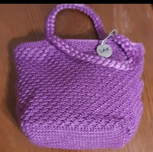 Saks collection crocheted purse